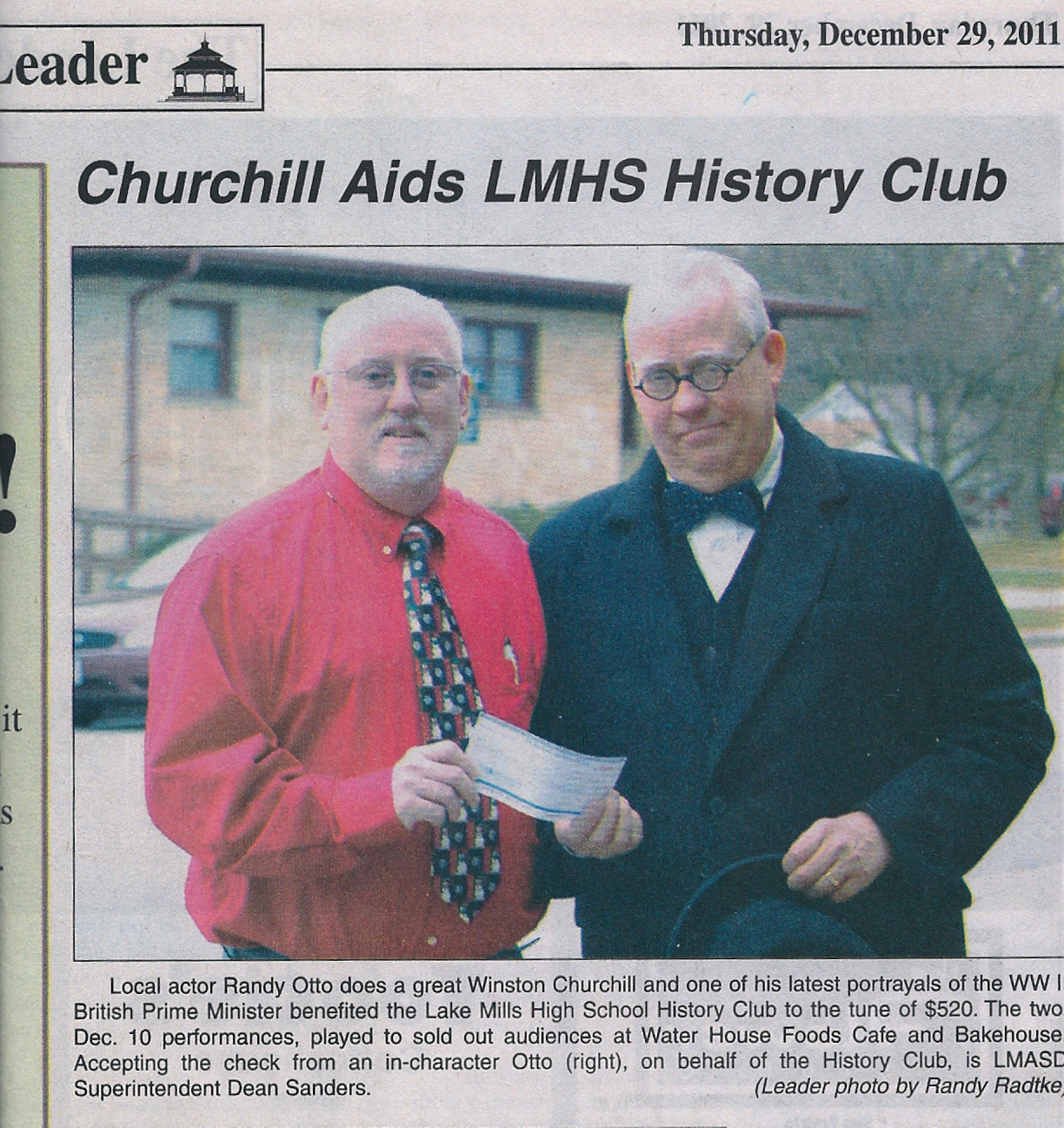Churchill Aids LMHS History Club